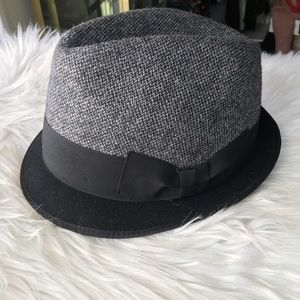 Dolce & Gabbana Gray Black Fedora & Black ribbon